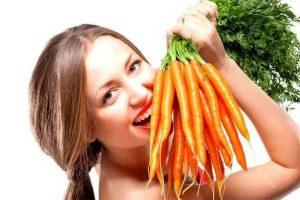 как отбелить зубы морковкой