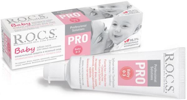 ROCS – PRO Baby зубная паста без фтора