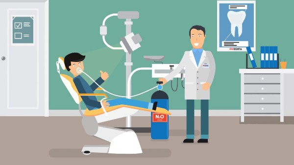 Лечение зубов детям под закисью азота